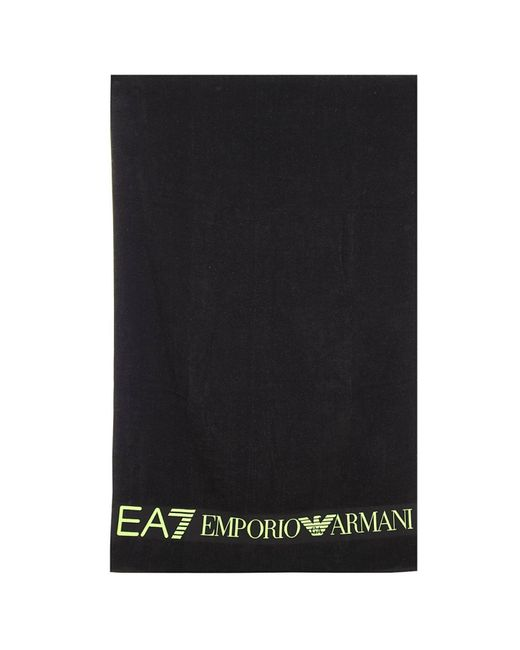 Ralph Lauren Mens Beach Towel: Ea7 Beach Towel In Black For Men