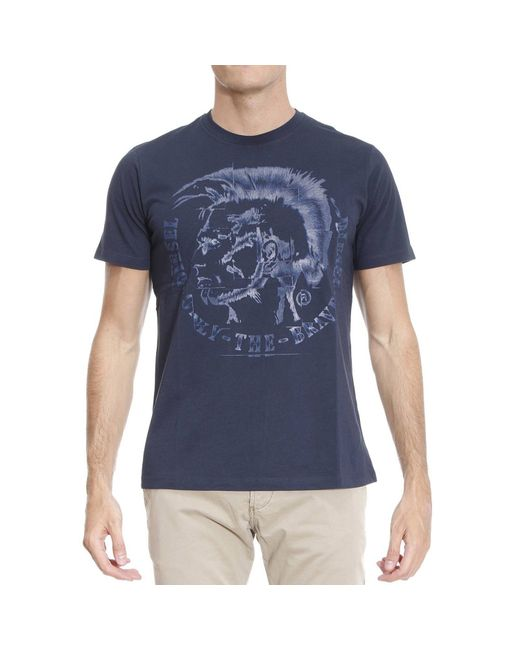 DIESEL | Blue T-shirt Man for Men | Lyst