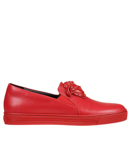 Versace Sneakers Shoes Men in Red for Men | Lyst