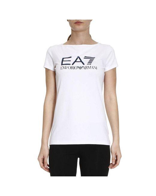 EA7 | White T-shirt Women Ea7 | Lyst
