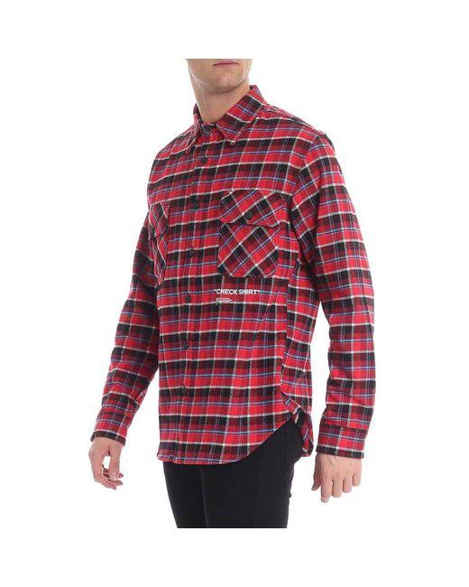9cf09ef97e58 ... Off-White c o Virgil Abloh - Red Shirt Men for Men - Lyst ...