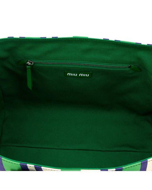 ... Miu Miu - Green Handbag Shoulder Bag Women - Lyst 9a94000d4a80a