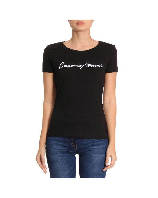 Lyst Emporio Armani T Shirt Women In Black Save 18