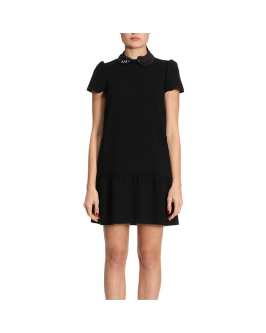 RED Valentino - Black Dress Women - Lyst