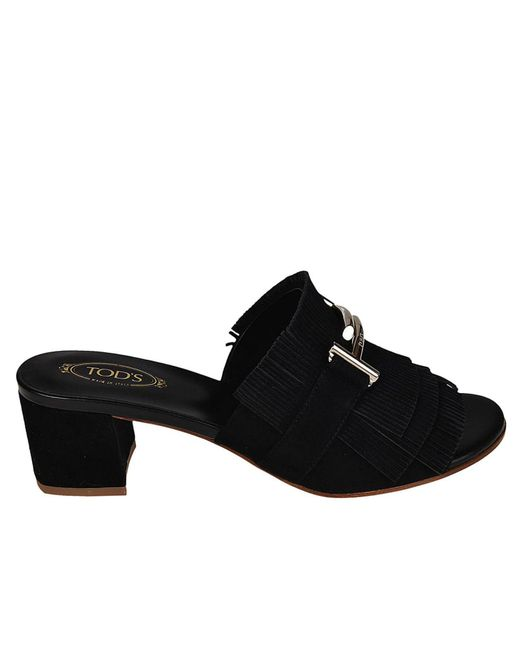 Tod's - Black Heeled Sandals Shoes Women - Lyst