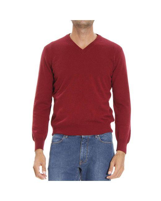 Ermenegildo Zegna | Red Men's Sweater for Men | Lyst