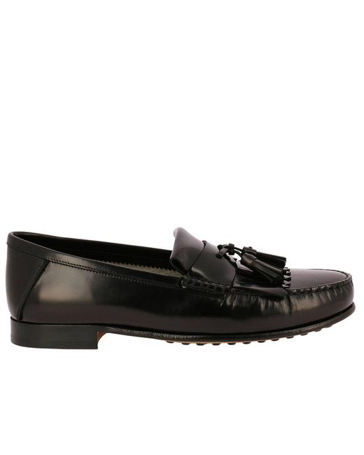 Tod's - Black Loafers Shoes Men for Men - Lyst