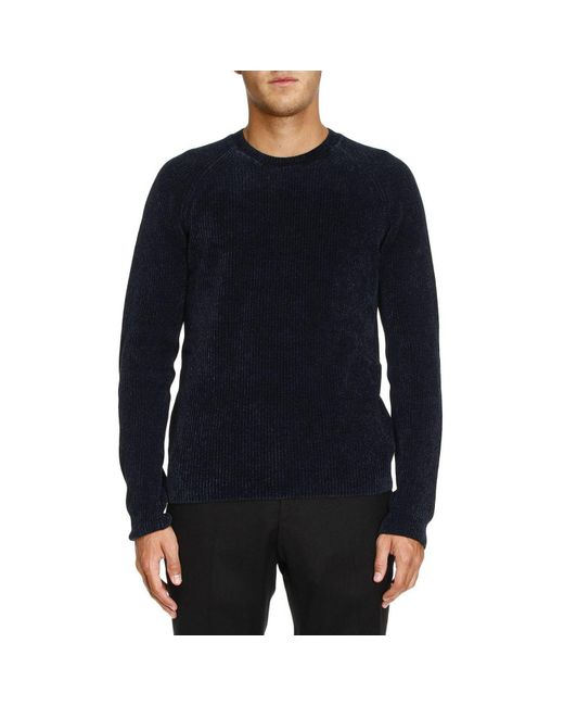 Giorgio Armani | Blue Sweater Men for Men | Lyst