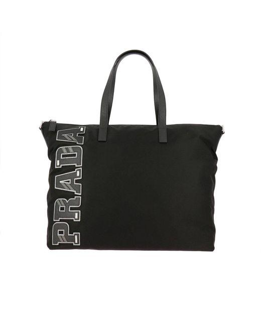 Prada | Black Bags Men for Men | Lyst