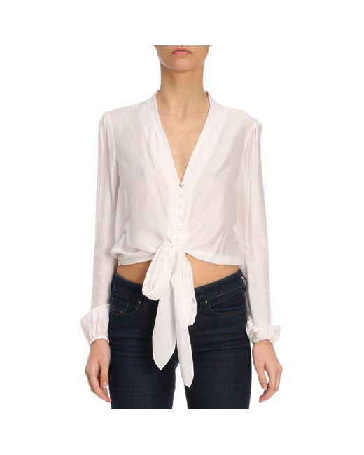 Patrizia Pepe - White Shirt Women - Lyst