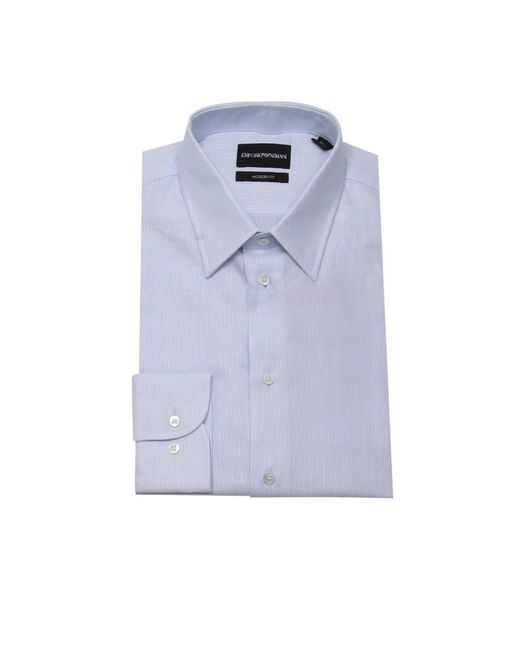 Emporio Armani - Blue Shirt Men for Men - Lyst