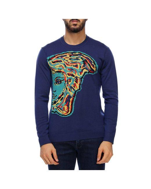 Versace - Blue Sweater Men for Men - Lyst
