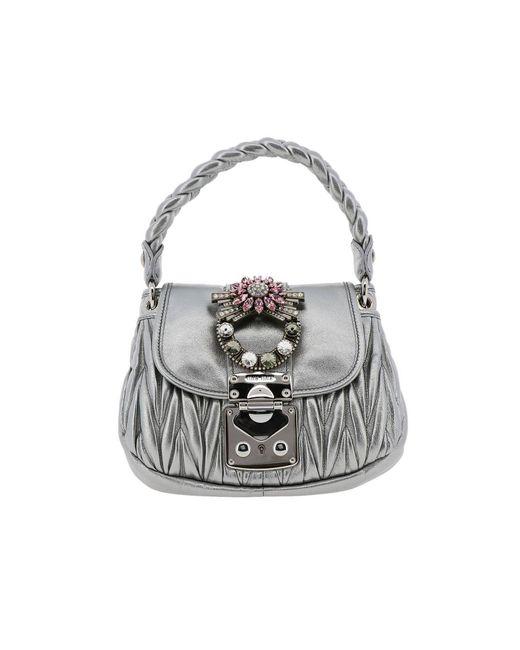 48d9486cf09 Miu Miu - Metallic Mini Bag Shoulder Bag Women - Lyst ...