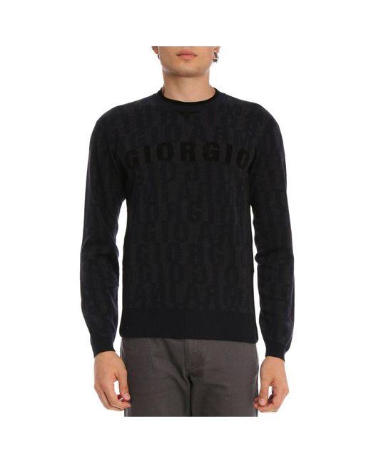 Giorgio Armani - Blue Sweater Men for Men - Lyst