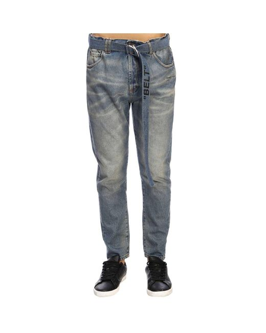 334a5674d48c Off-White c o Virgil Abloh - Blue Jeans Men for Men - Lyst ...