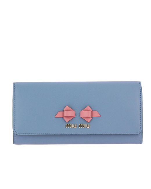 Miu Miu - Blue Wallet Women - Lyst