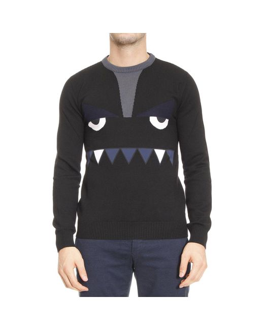Fendi | Black Sweater Man Bugs for Men | Lyst