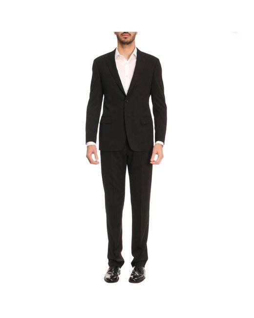 Giorgio Armani | Black Suit Men for Men | Lyst