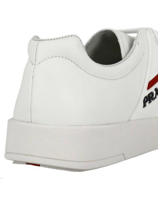 ee4e36ee40cb Lyst - Baskets Chaussures Homme Prada pour homme en coloris Blanc