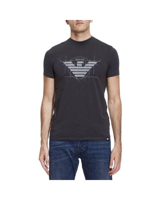 Armani Jeans | Gray T-shirt Men for Men | Lyst