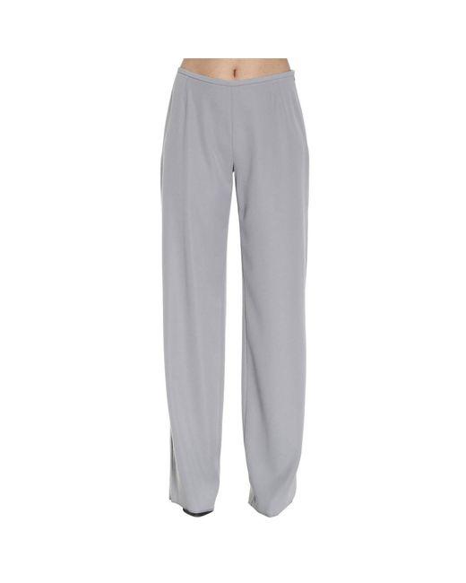 Armani - Gray Pants Trouser Women - Lyst