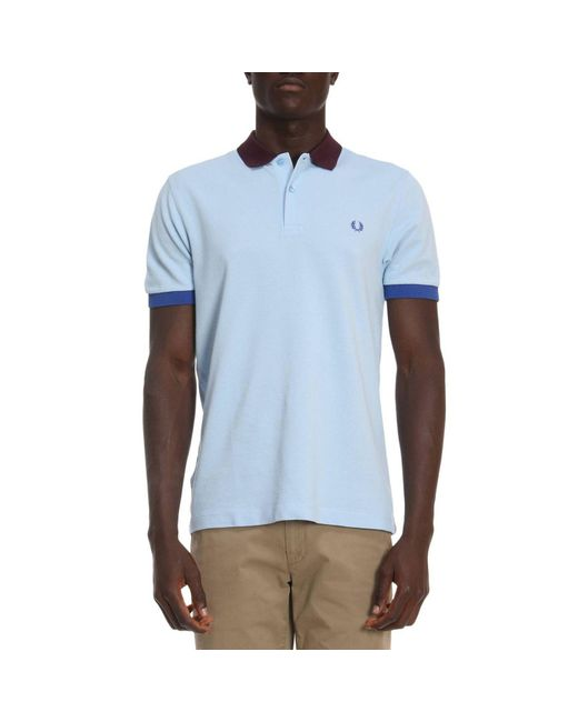 Fred Perry - Blue T-shirt Men for Men - Lyst