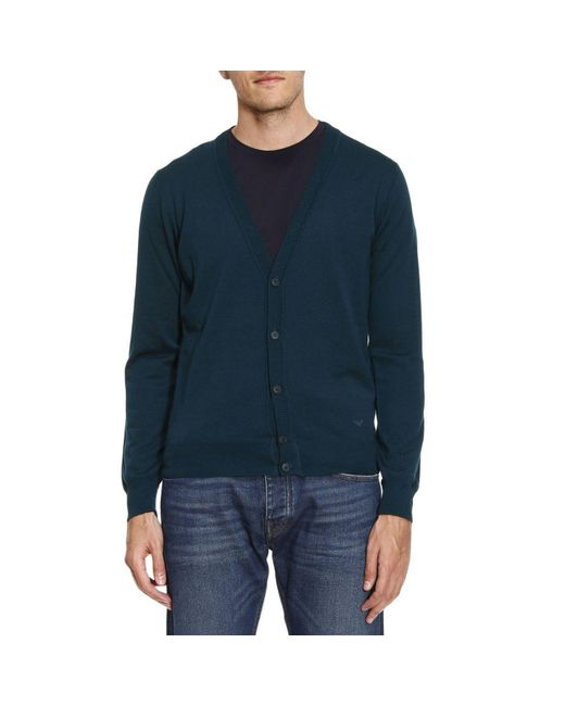 Emporio Armani - Blue Sweater Men for Men - Lyst