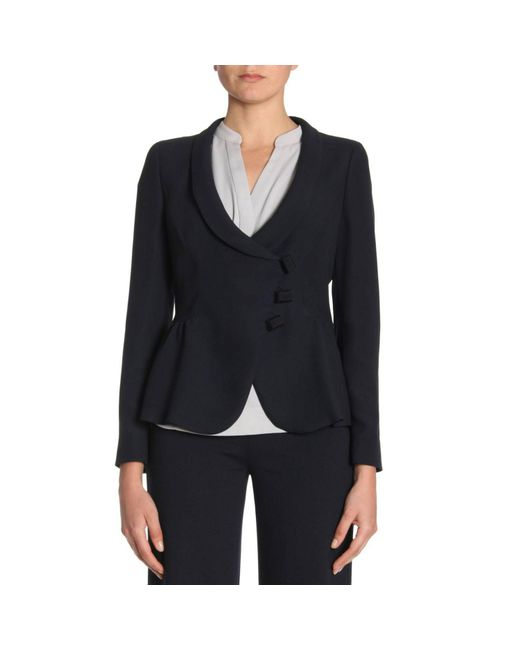 Emporio Armani - Blue Jacket Women - Lyst