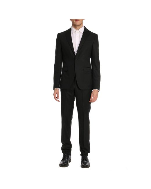 Versace Suit Men In Black For Men