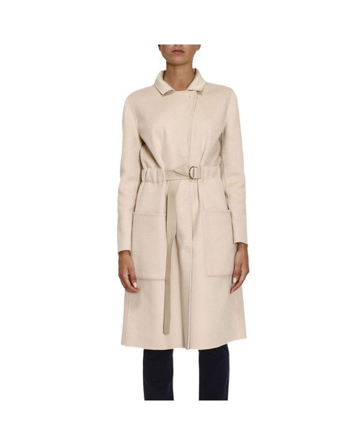 Emporio Armani - Natural Coat Women - Lyst