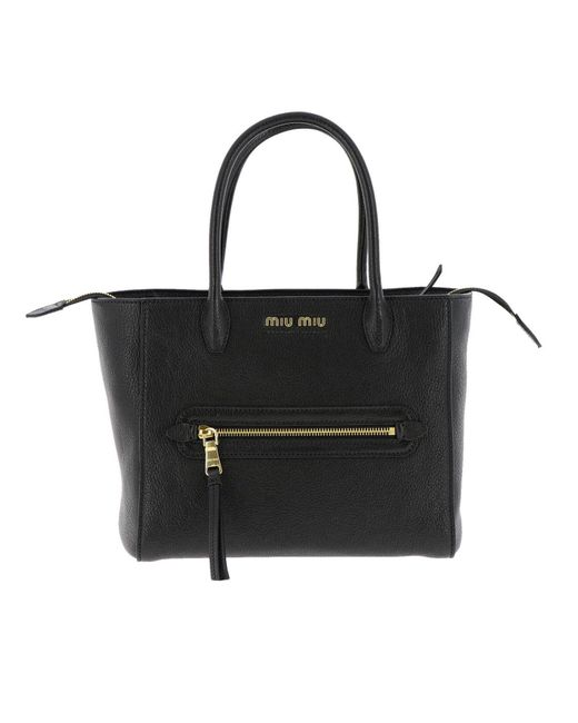 ... new design 2c191 fd92c Miu Miu - Black Handbag Shoulder Bag Women - Lyst  . ... cd252d8382