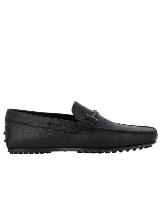Tod's - Black Loafers Shoes Men for Men - Lyst