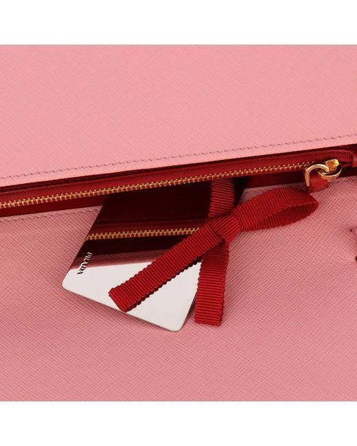 7a7137191 spain prada tessuto saffiano shoulder bag red f73e4 19d71; germany prada  pink mini bag shoulder bag women lyst 40099 2a391