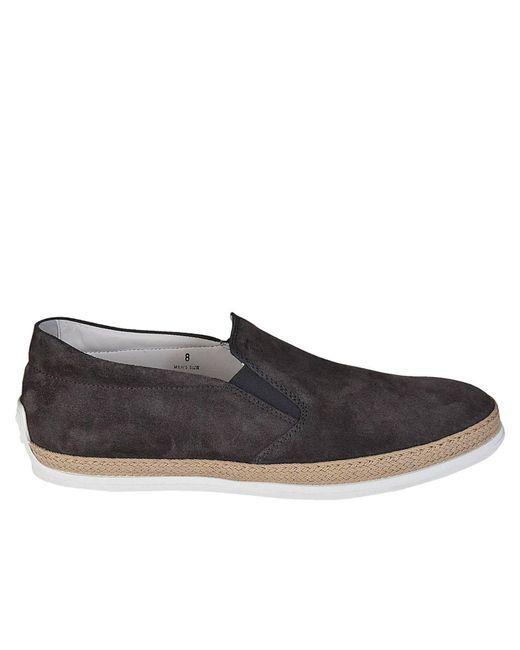 Tod's - Gray Loafers Men for Men - Lyst