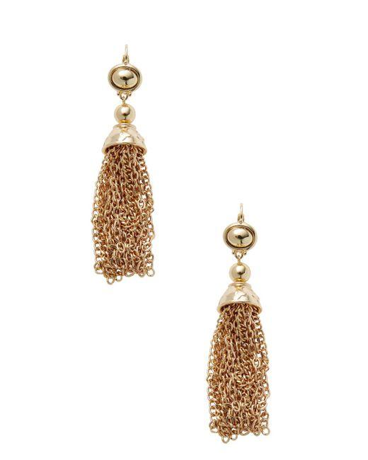Kenneth Jay Lane - Metallic Gold Tassel-chain Drop Earrings - Lyst