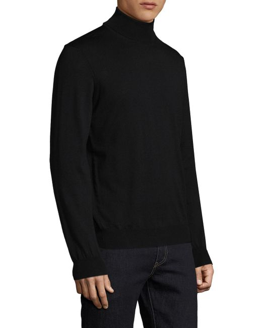 Tocco toscano Merino Wool Turtleneck Sweater in Black for Men | Lyst