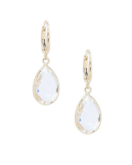 Saks Fifth Avenue - Metallic Clear Quartz Teardrop Dangle & Drop Earrings - Lyst