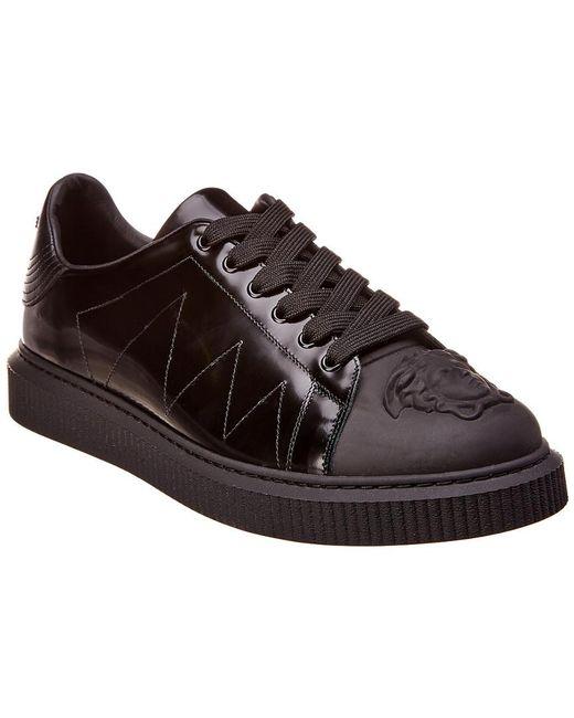 Versace Black Patent Sneaker for men