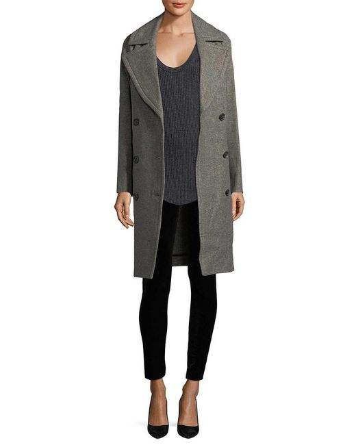 IRO - Gray Woven Coat - Lyst
