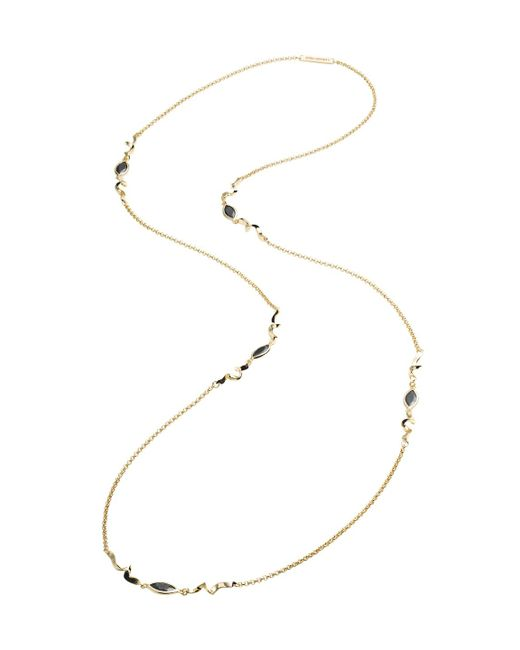 Eddie Borgo - Metallic Navette Station Necklace - Lyst
