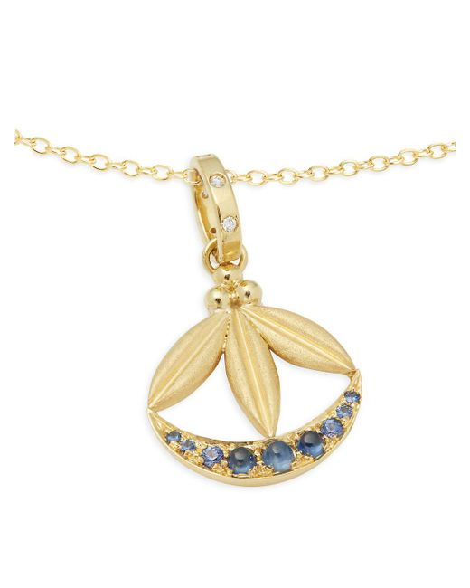 Temple st clair diamond 18k gold 18k yellow gold lotus temple st clair metallic diamond 18k gold 18k yellow gold lotus crescent mozeypictures Image collections
