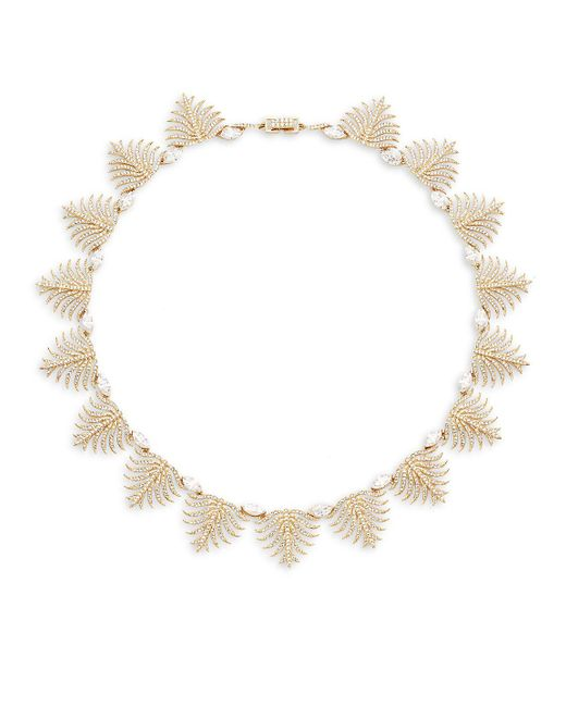Adriana Orsini - Metallic Barbara Pavé Crystal Leaf Necklace - Lyst
