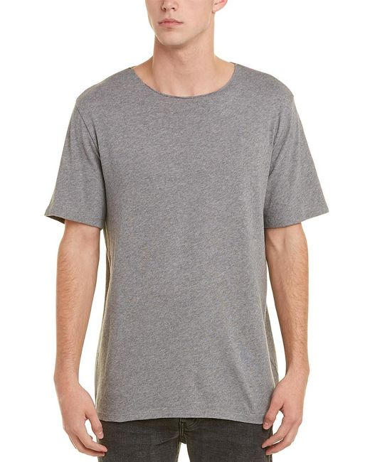 Vince - Gray Raw-edge T-shirt for Men - Lyst