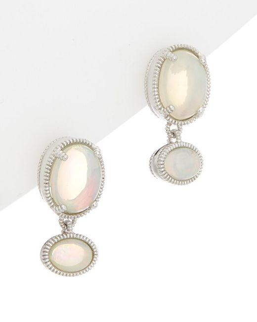 Judith Ripka - Metallic Silver 3.15 Ct. Tw. Opal Drop Earrings - Lyst