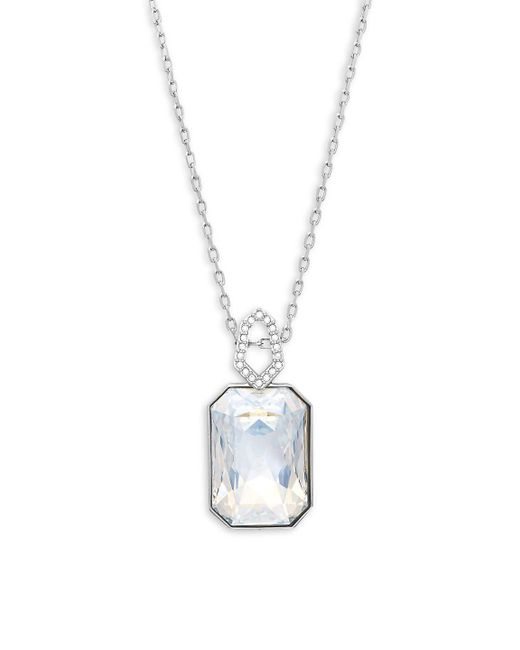 Swarovski | Metallic Evanescent Crystal Pendant Necklace | Lyst