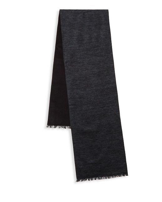 Saks Fifth Avenue - Black Heathered Silk Scarf for Men - Lyst