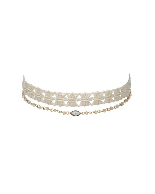Loren Olivia Accessories - White Knotted & Marquise Double Choker - Lyst