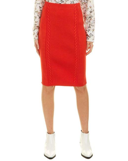 Rag & Bone Red Brandy Pencil Skirt