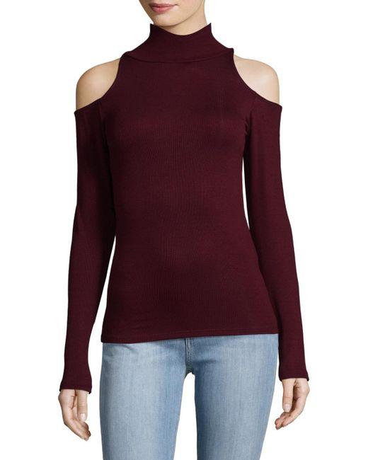 Joe's Jeans - Purple Olivia Mockneck Top - Lyst
