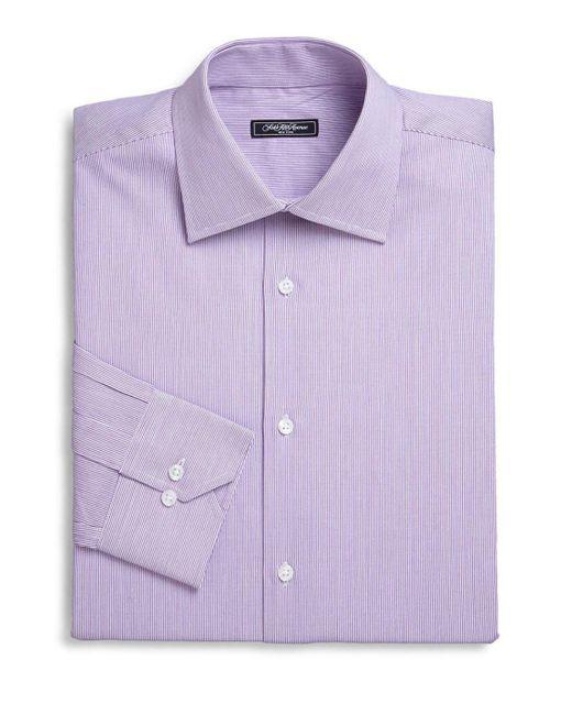 Saks Fifth Avenue | Purple Micro Stripe Dress Shirt for Men | Lyst